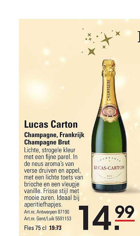 ISPC Lucas Carton Champagne, Frankrijk Champagne Brut