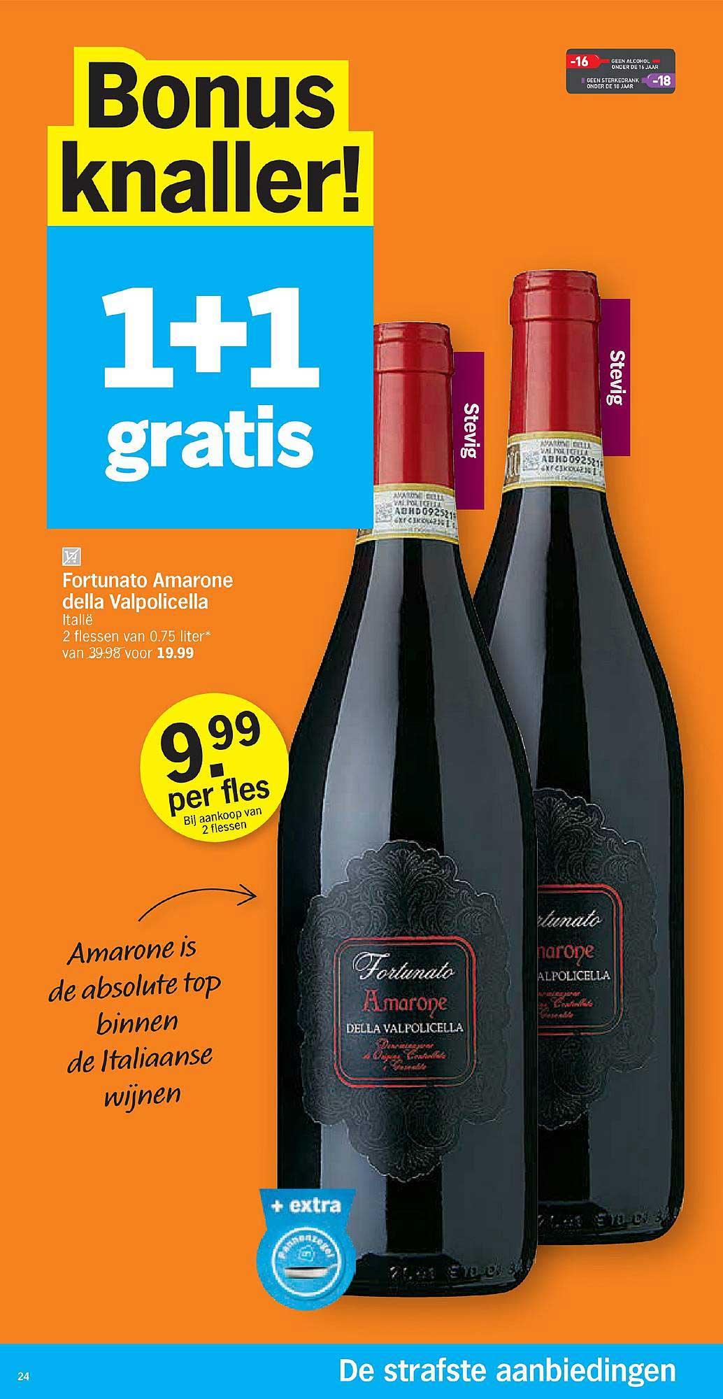 Albert Heijn 1+1 Gratis Fortunato Amarone Della Valpolicella