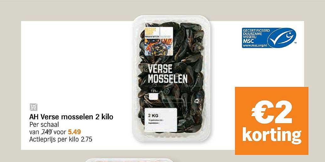 Albert Heijn Ah Verse Mosselen 2 Kilo