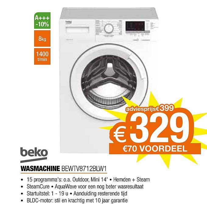 Expert Beko Wasmachine Bewtv8712blw1