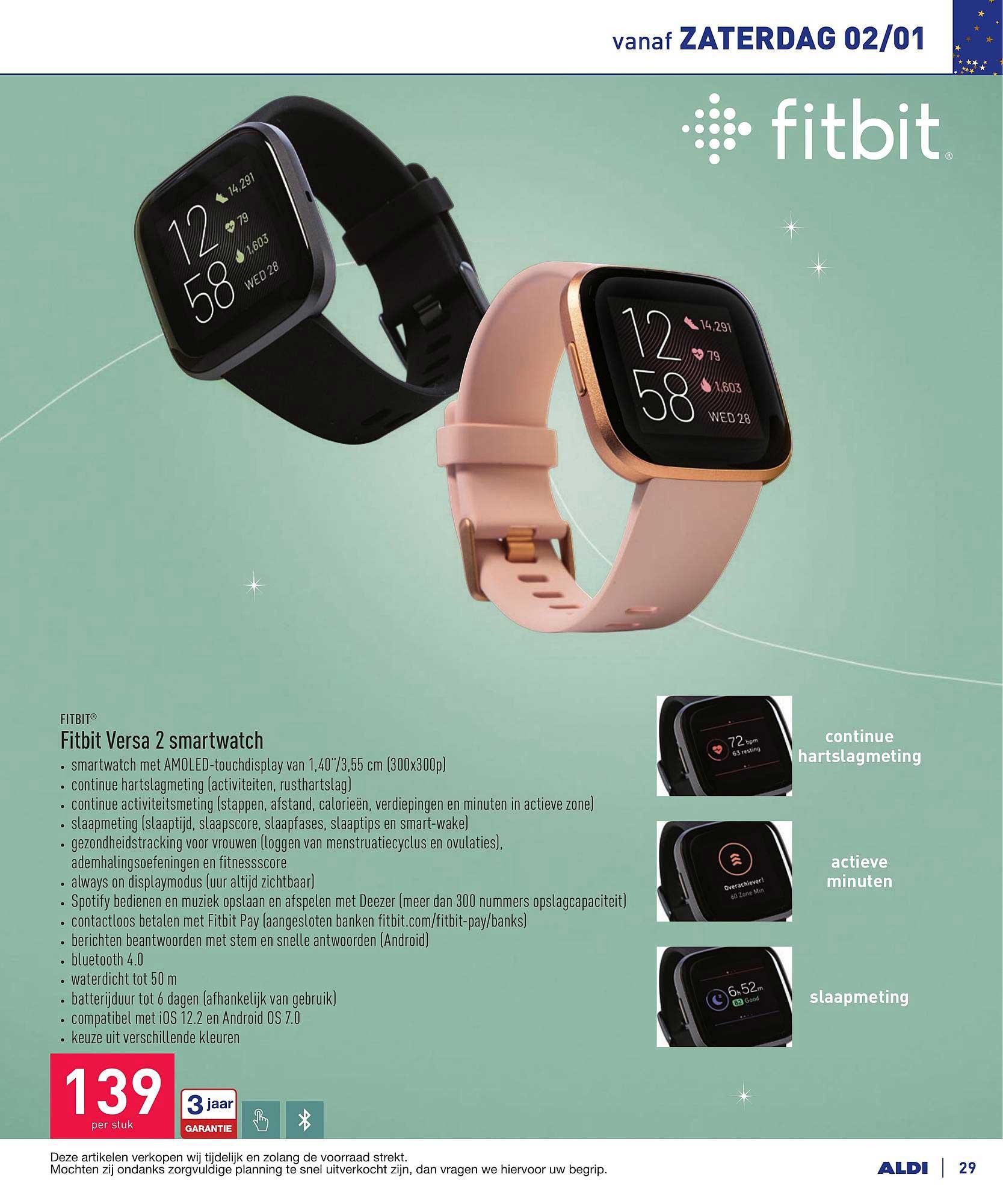 ALDI Fitbit Versa 2 Smartwatch
