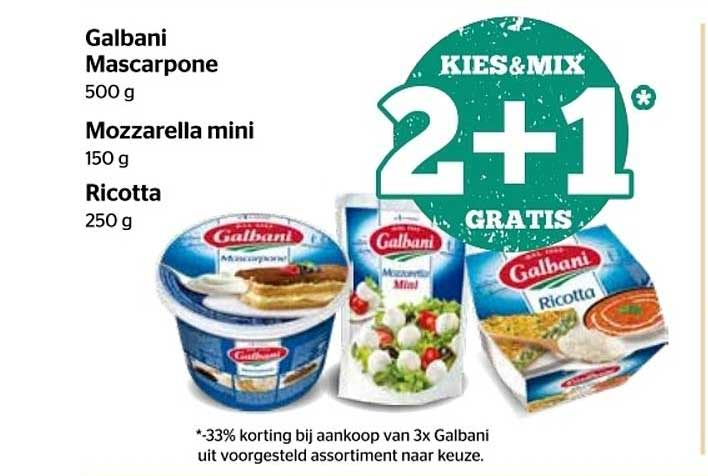 Spar Express Galbani Mascarpone Of Mozzarella Mini Of Ricotta