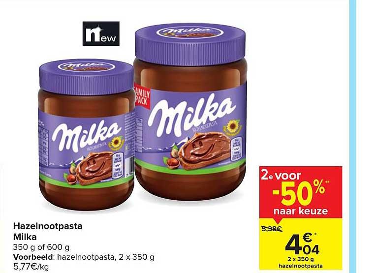 Hyper Carrefour Hazelnootpasta Milka