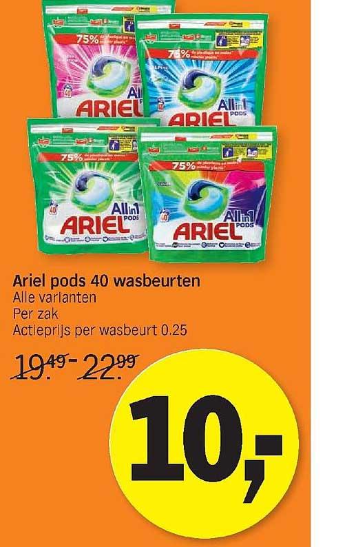 Albert Heijn Ariel Pods 40 Wasbeurten