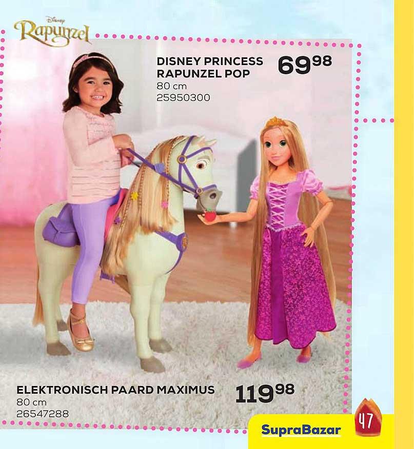 Supra Bazar Disney Princess Rapunzel Pop Of Elektronisch Paard Maximus
