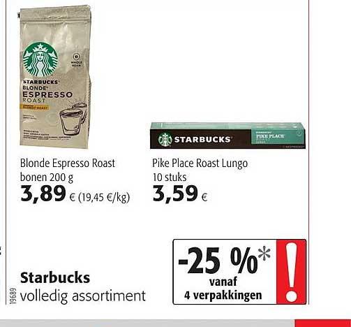 Colruyt Starbucks Volledig Assortiment