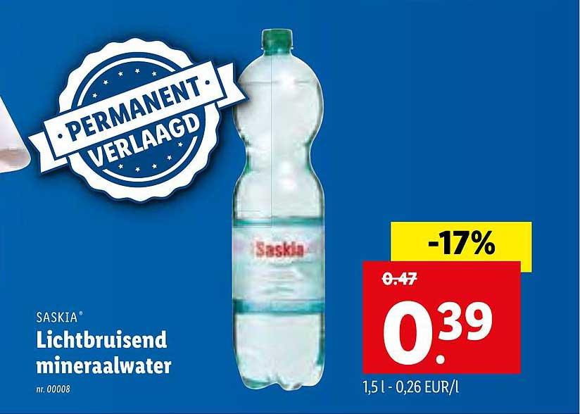 Lidl Saskia Lichtbruisend Mineraalwater