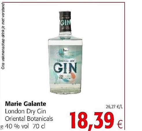 Colruyt Marie Galante London Dry Gin