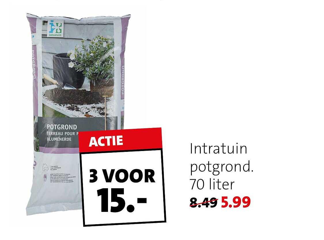 Intratuin Intratuin Potgrond 70 Liter