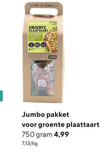 Jumbo Jumbo Pakket Voor Groente Plaattaart