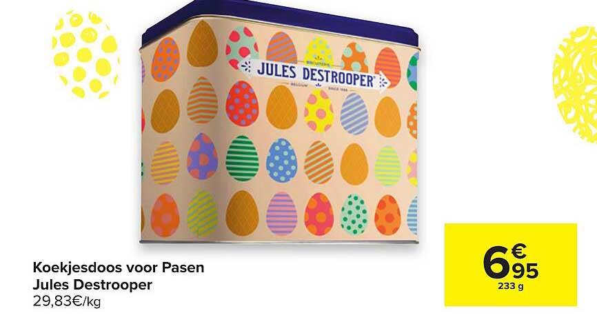 Hyper Carrefour Koekjesdoos Voor Pasen Jules Destrooper