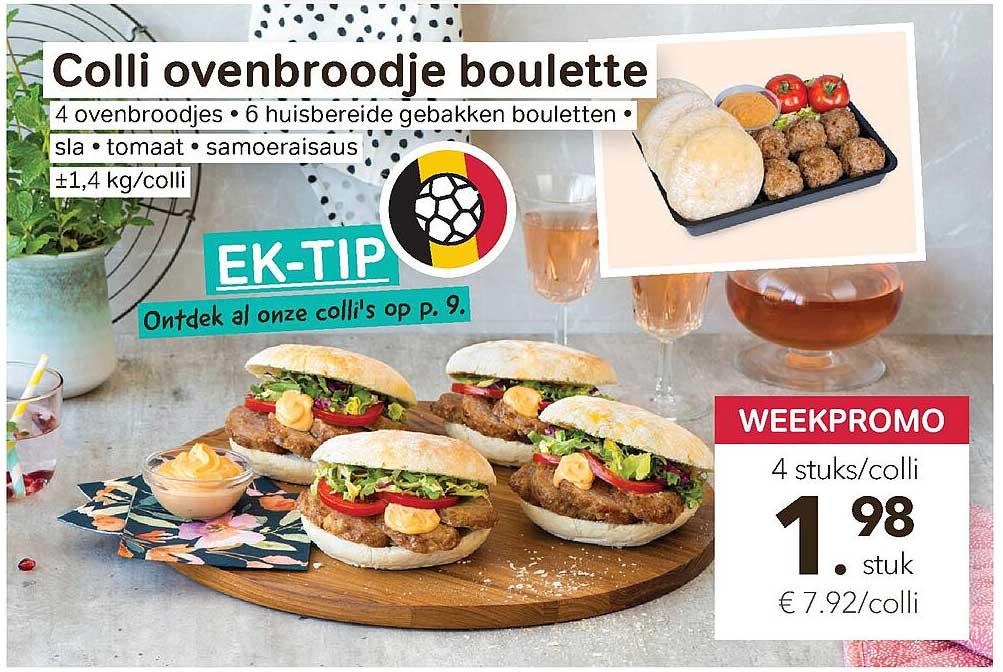 Bon Ap Colli Ovenbroodje Boulette