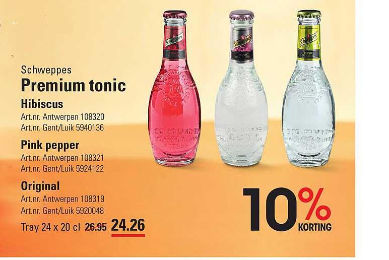 ISPC Schweppes Premium Tonic Hibiscus, Pink Pepper, Original