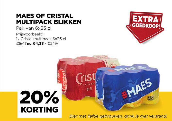 Jumbo 20% Korting Maes Of Cristal Multipack Blikken