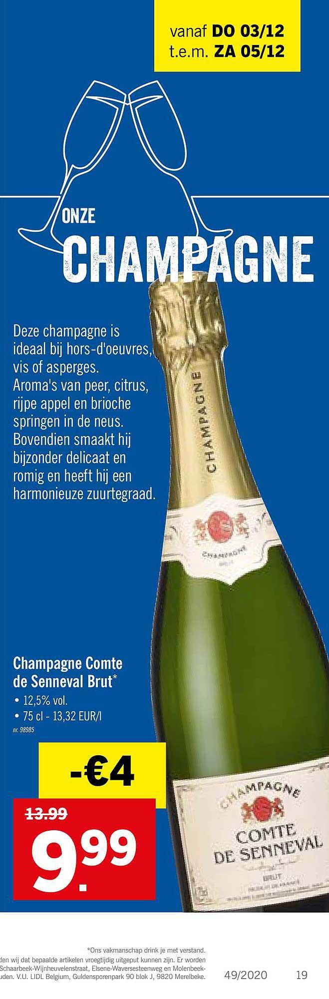 Lidl Champagne Comte De Senneval Brut