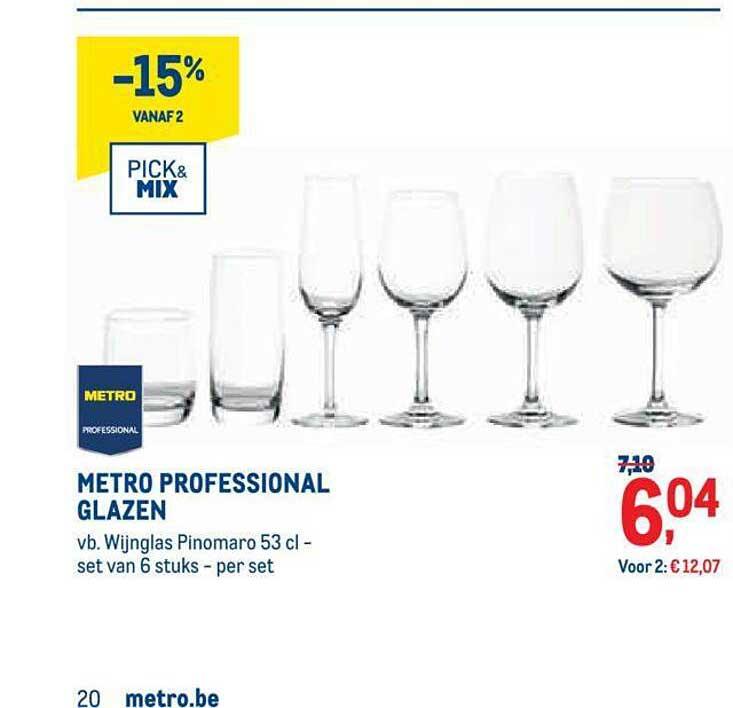 METRO Metro Professional Glazen