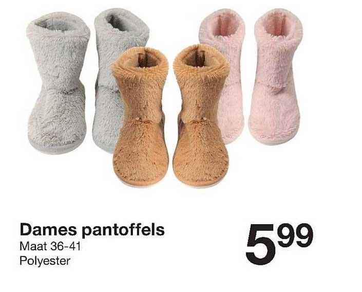Zeeman Dames Pantoffels Maat 36-41