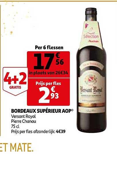 Auchan Bordeaux Superieur Aop Versant Royal Pierre Chanau