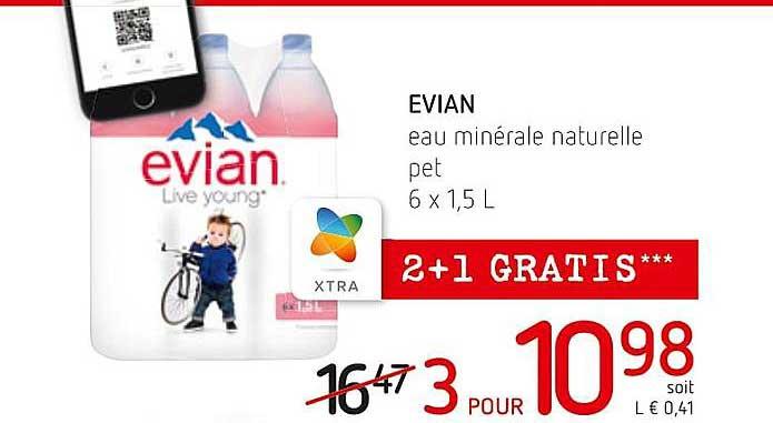 Spar Colruyt Evian Eau Minerale Naturelle