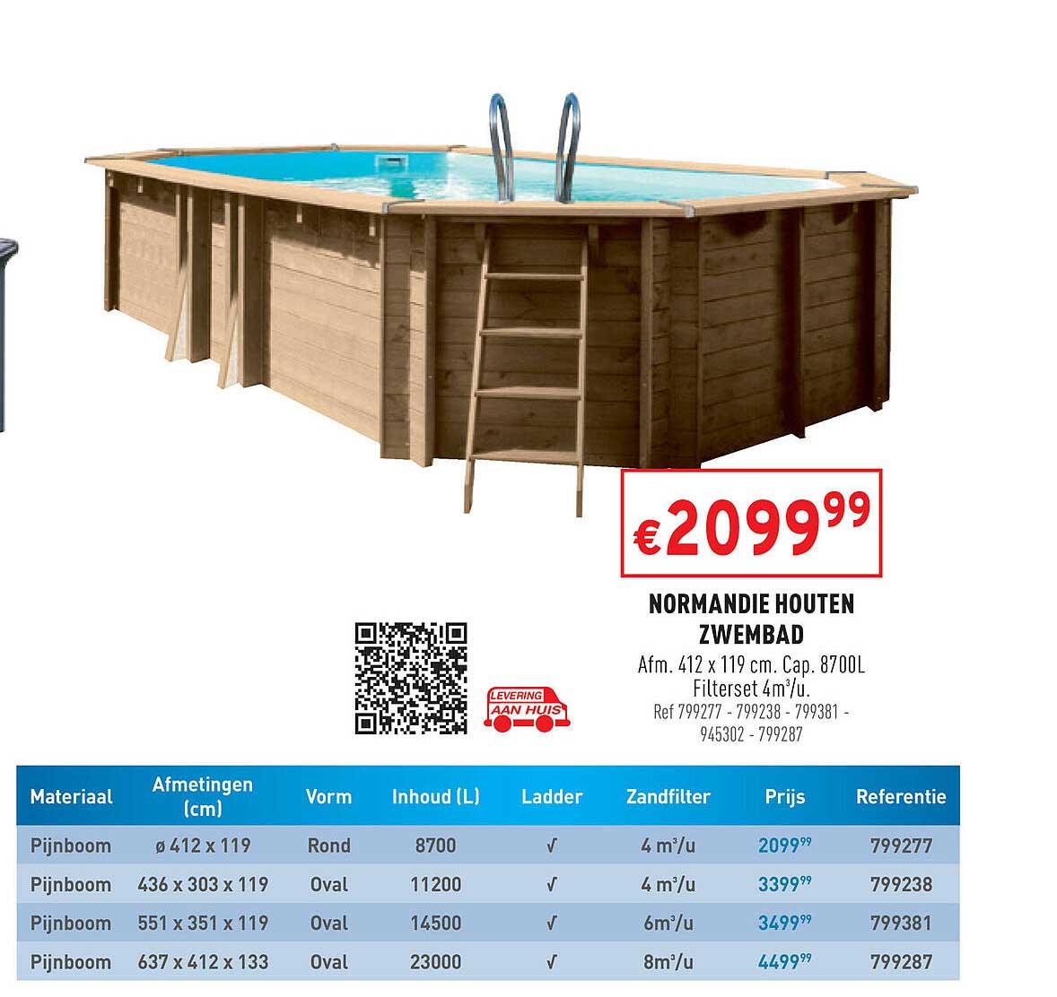 Trafic Normandie Houten Zwembad