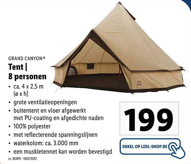 Lidl Grand Canyon Tent 8 Personen