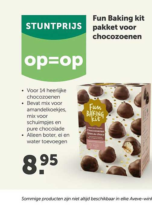 AVEVE Fun Baking Kit Pakket Voor Chocozoenen