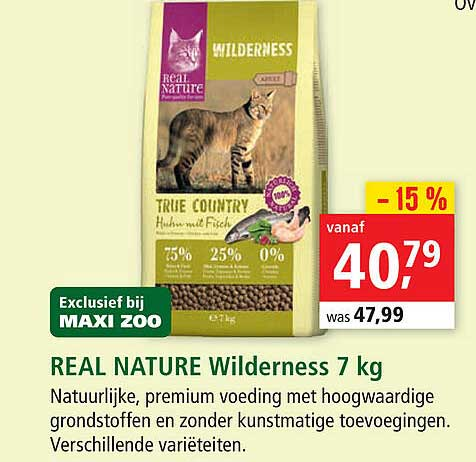 Maxi Zoo Real Nature Wilderness 7 Kg