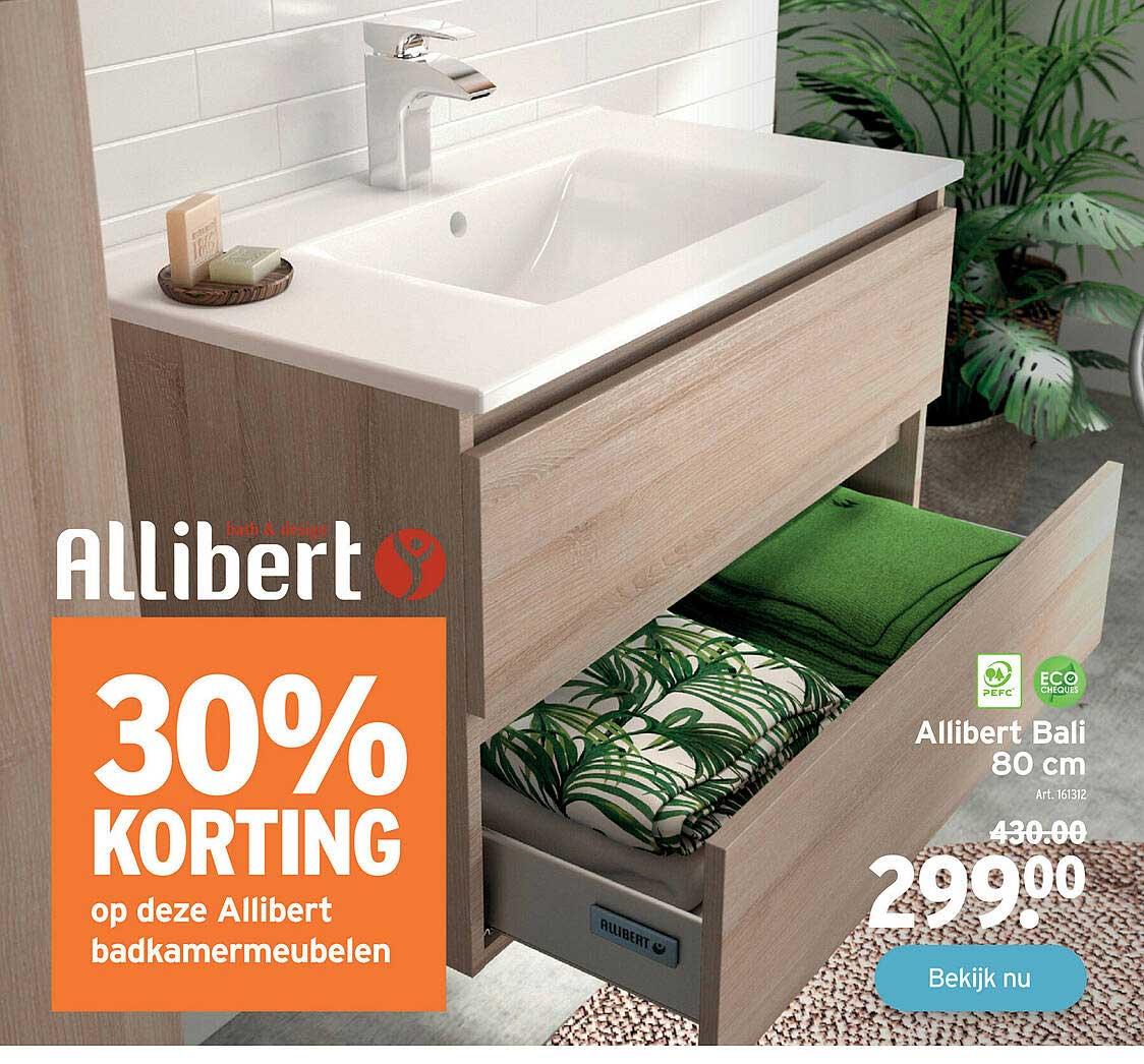 GAMMA 30% Korting Op Deze Allibert Badkamermeubelen