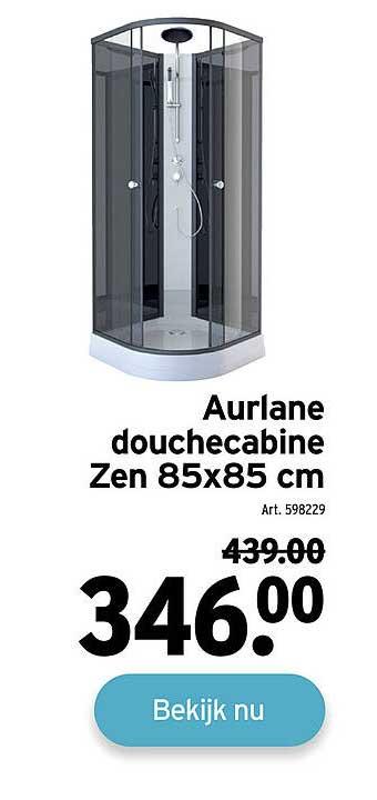 GAMMA Aurlane Douchecabine Zen 85x85 Cm