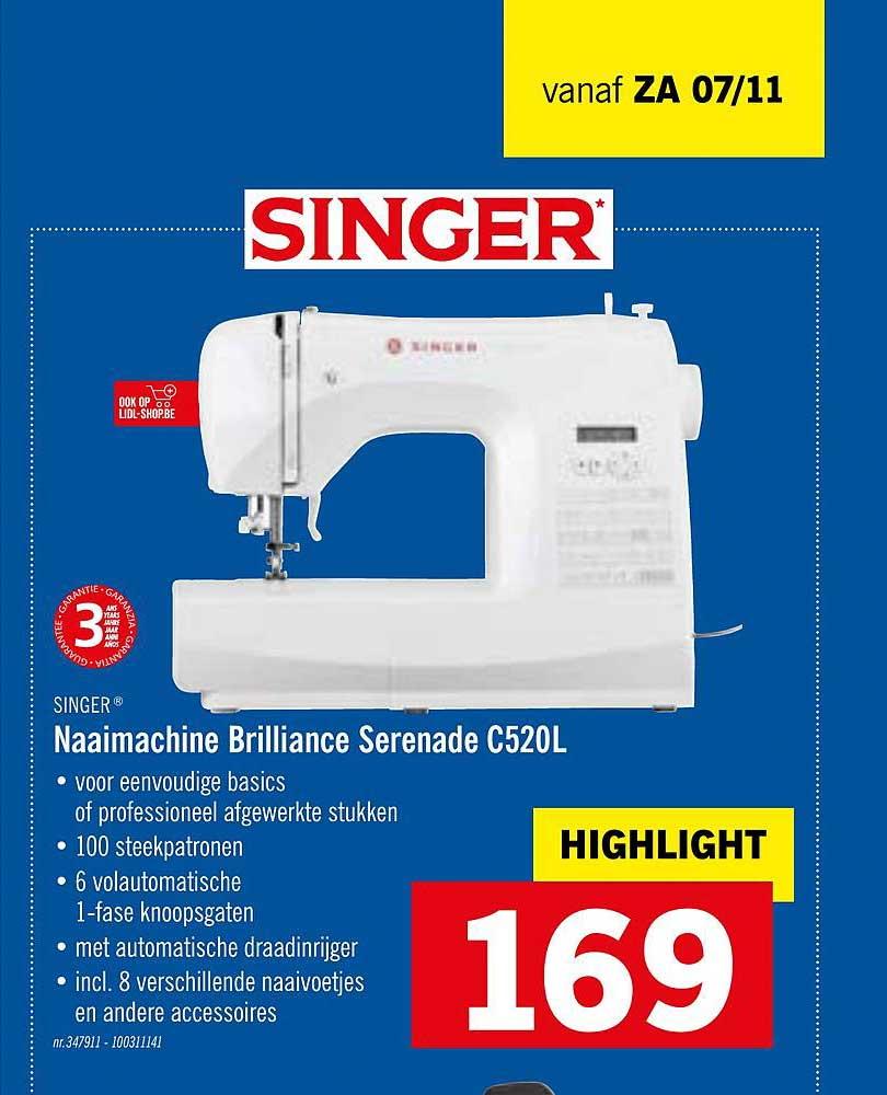 Lidl Singer Naaimachine Brilliance Serenade C520l