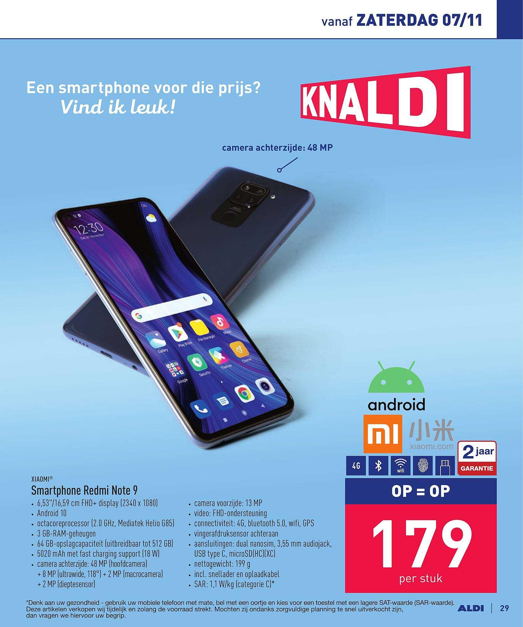 ALDI Xiaomi Smartphone Redmi Note 9