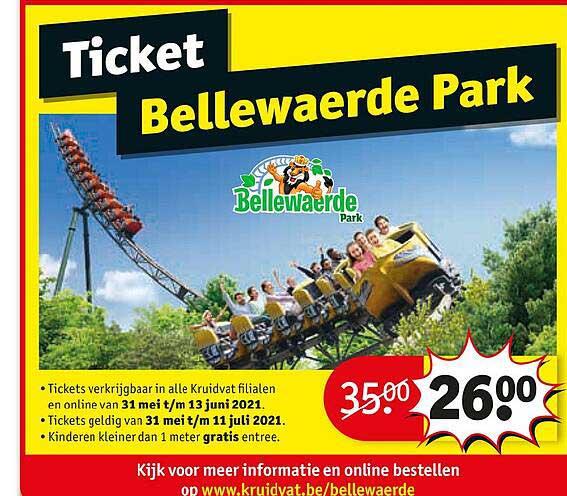 Kruidvat Ticket Bellewaerde Park