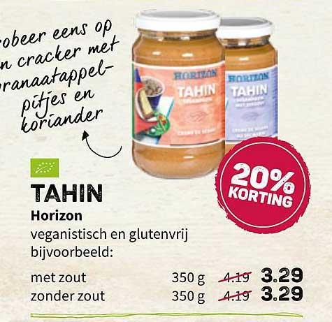 Ekoplaza Tahin Horizon 20% Korting