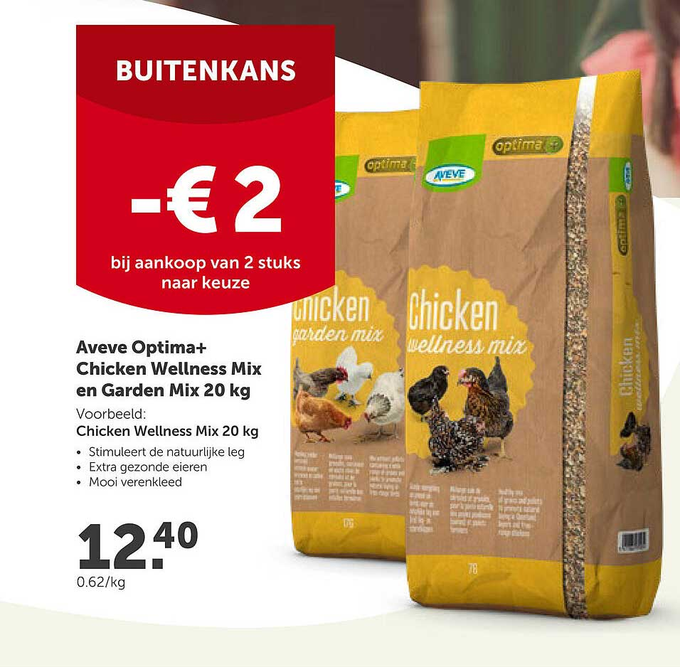 AVEVE Aveve Optima+ Chicken Wellness Mix En Garden Mix 20 Kg
