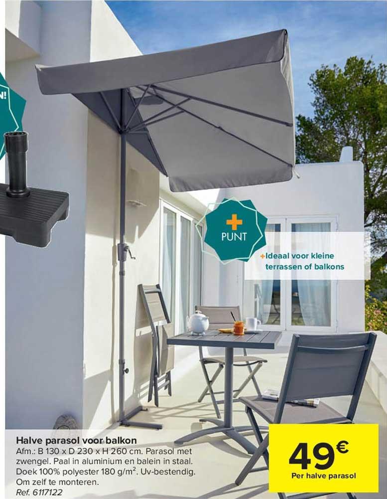 Carrefour Halve Parasol Voor Balkon