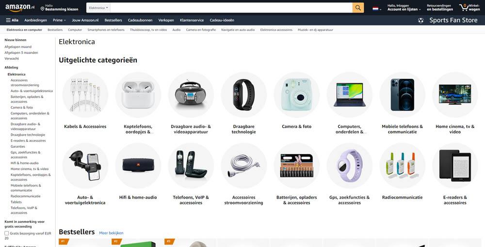 Online Elektronica Winkels