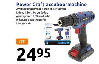 Action Power Craft Accuboormachine