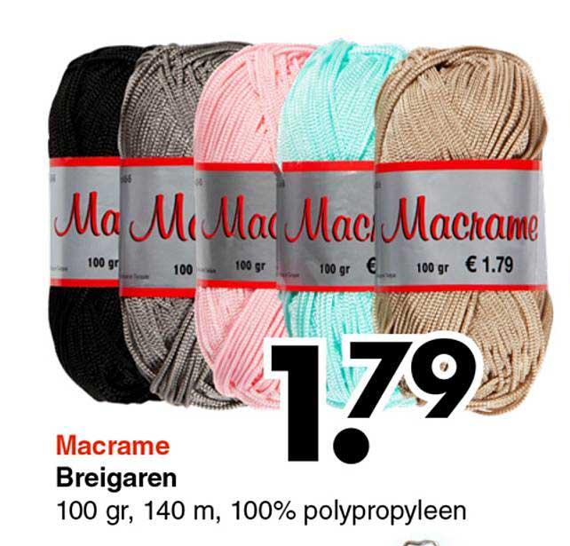 Wibra Macrame Breigaren