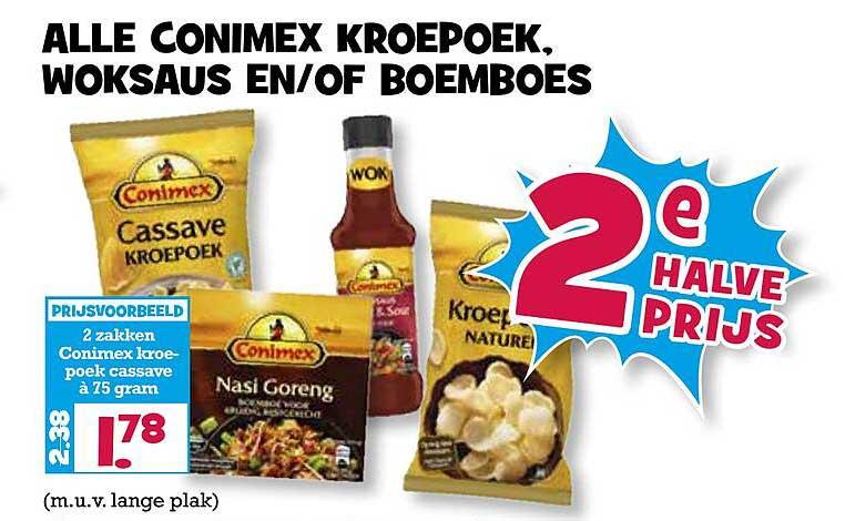 Boon's Markt Alle Conimex Kroepoek, Woksaus En-of Boemboes