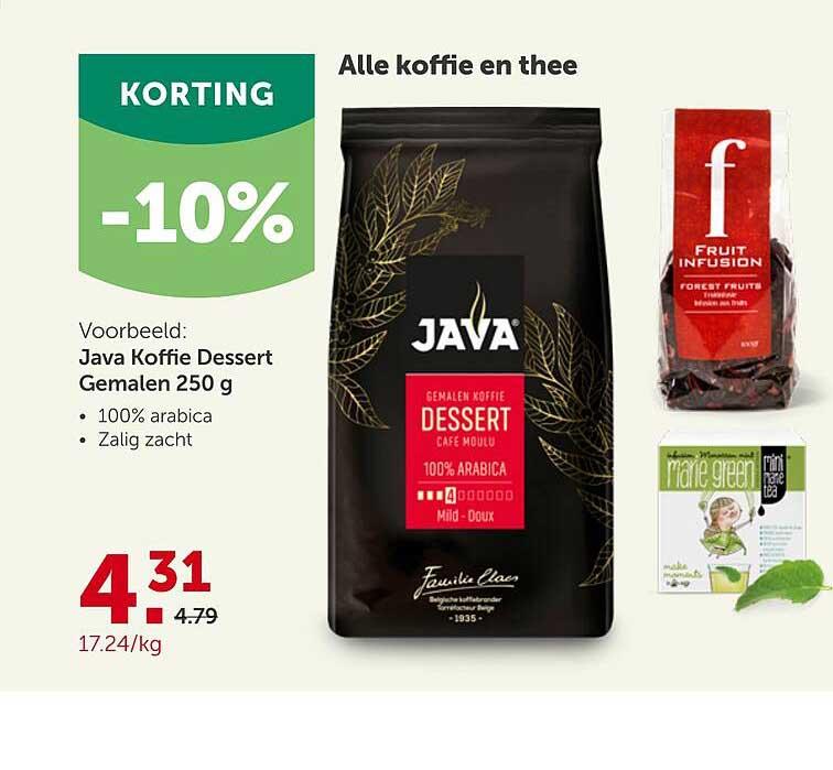 Aveve Alle Koffie En Thee -10% Korting