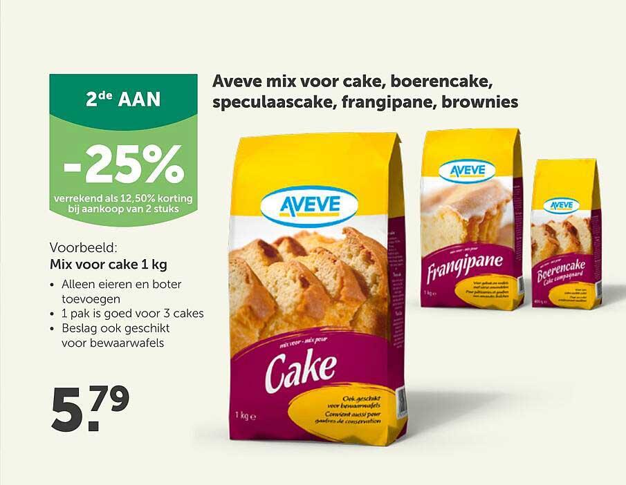 Aveve Aveve Mix Voor Cake, Boerencake, Speculaascake, Frangipane, Brownies