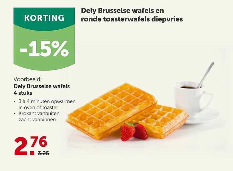 Aveve Dely Brusselse Wafels En Ronde Toasterwafels Diepvris -15% Korting