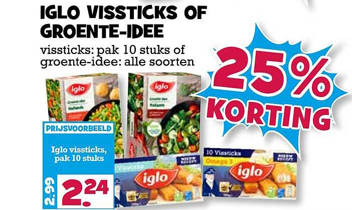 Boon's Markt Iglo Vissticks Of Groente-Idee 25% Korting