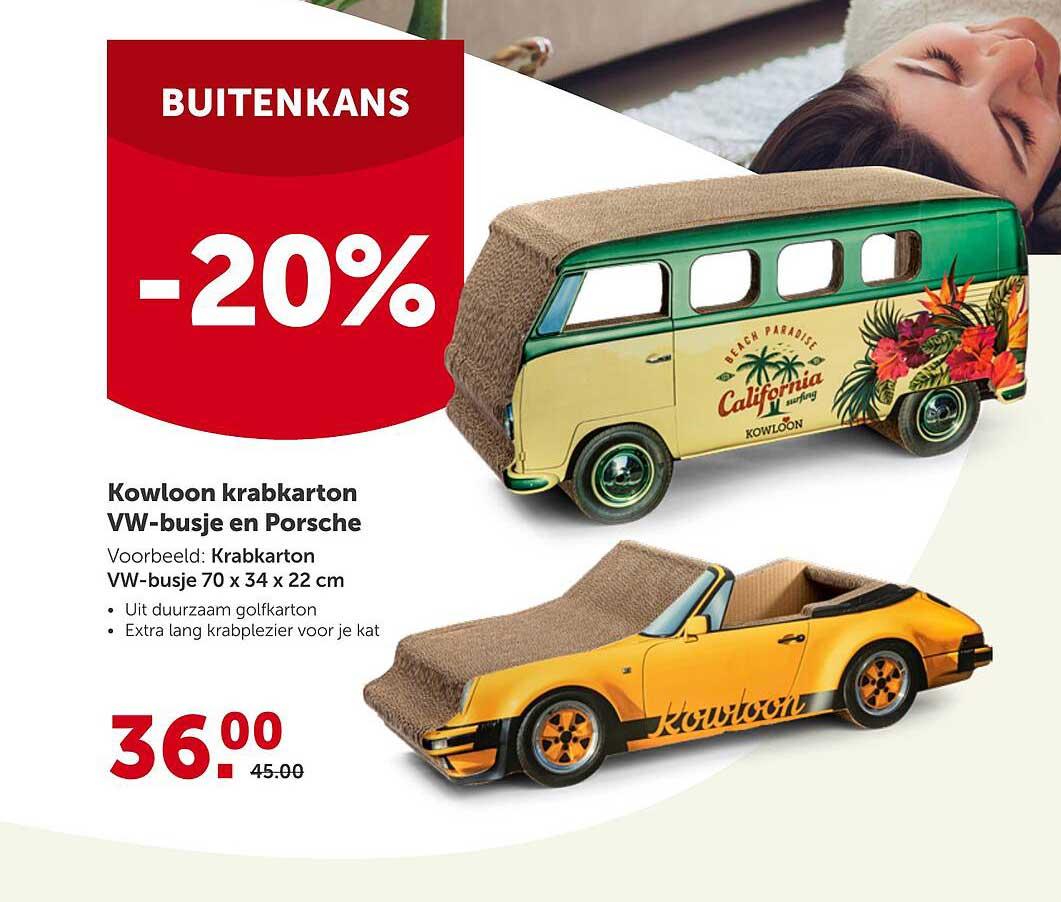 Aveve Kowloon Krabkarton VW-Busje En Porsche