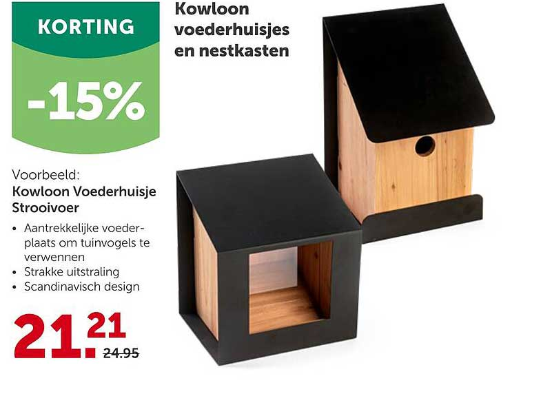 Aveve Kowloon Voederhuisjes En Nestkasten -15% Korting