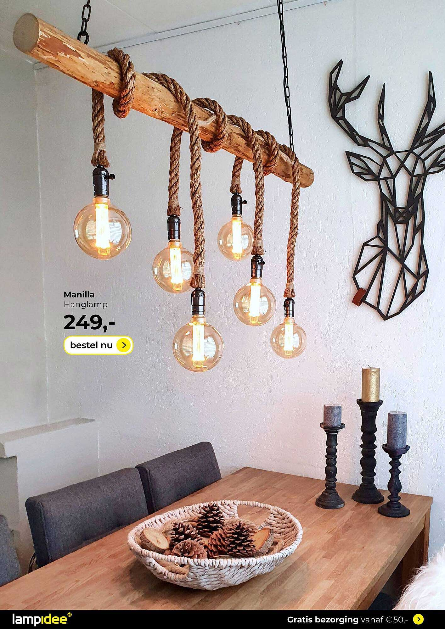Lampidee Manilla Hanglamp