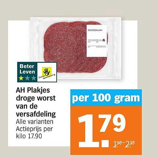 Albert Heijn AH Plakjes Droge Worst Van De Versafdeling