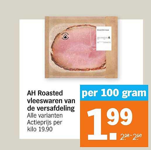Albert Heijn AH Roasted Vleeswaren Van De Versafdeling
