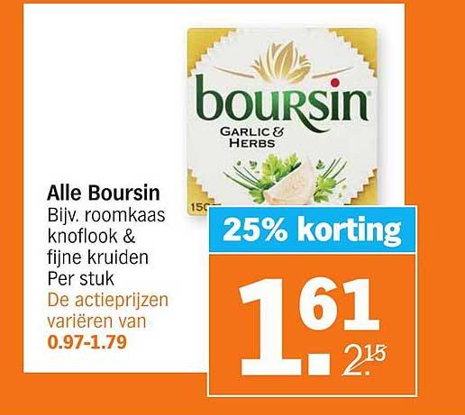 Albert Heijn Alle Boursin 25% Korting