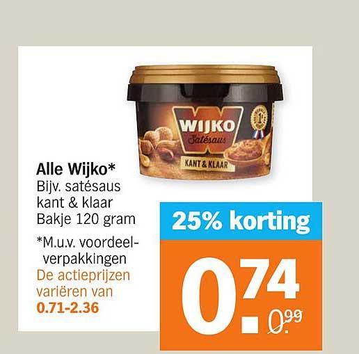 Albert Heijn Alle Wijko 25% Korting